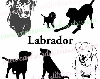 Labrador SVG - Labrador Silhouettes - Dog SVG - Digital Cutting File - Vector - Cricut Cut - Instant Download - Svg, Dxf, Jpg, Eps, Png