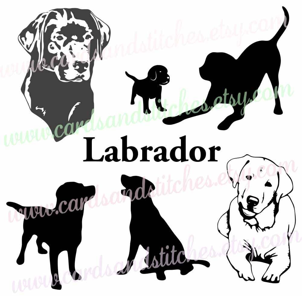 Download Labrador SVG Labrador Silhouettes Dog SVG Digital