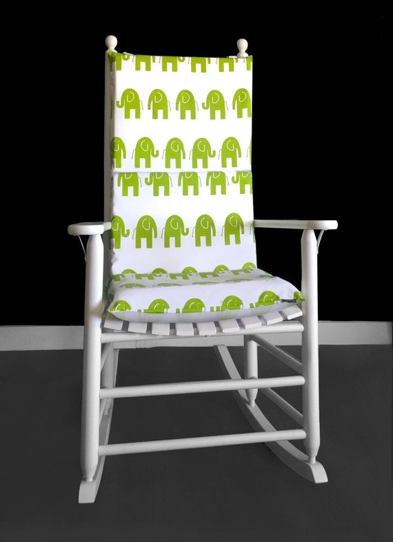 Elephant Nursery Rocking Chair Cushion Cover