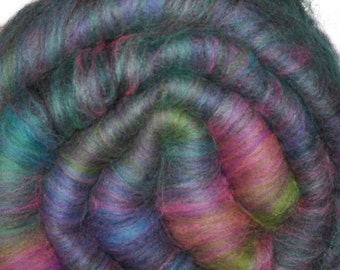 Fiber batt for spinning and felting - Drum carded mixed fiber batt - 2.1 ounces - Rhyme Nor Reason