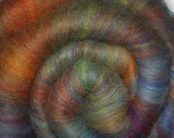 Carded batt for spinning and felting - Drum carded mixed fiber batt - 2.9 ounces - Upper Hand