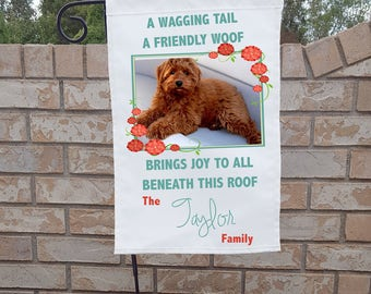 Personalized Dog Yard Flag