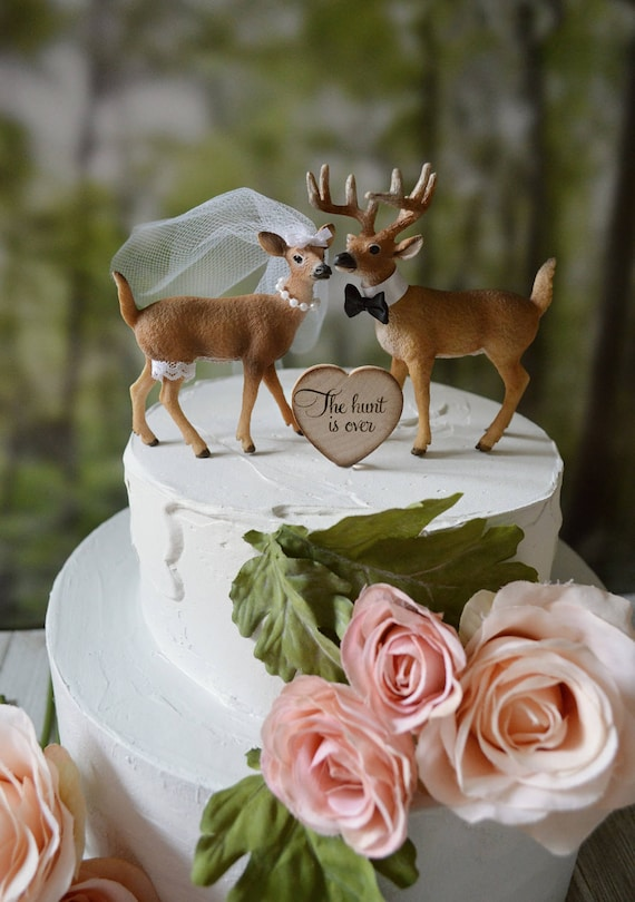 deer hunter wedding cake topper wedding cake topper deer groom buck doe 13442
