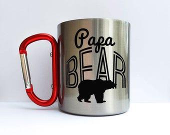 Papa Bear Mug, Camp Mug, Bear Mug, Papa Bear Gift, Fathers Day Gift, Dad from Daughter, New Dad Gift, Hiking mug, Hiking Cup, hiking Gift