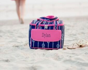 Monogrammed High Tied Insulated Tote - Beach Tote Bag - Monogrammed Cooler Tote - Monogrammed beach tote - Beach Bag - Pool bag