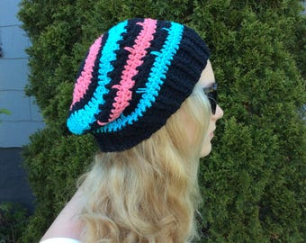 Spring or Summer Slouchy cotton hat