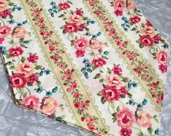 Beautiful Floral Altar Cloth/Table Runner - spring, equinox, roses, green, shrine decor