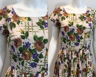 Pretty Late 1950's Spring Dress