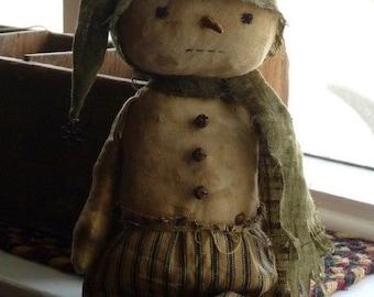Primitive Snowman Doll