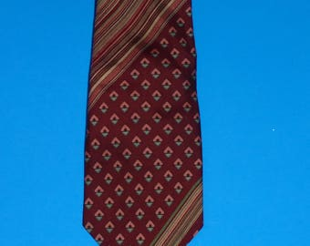 "Vintage Funky Yves Saint Laurent Neck Tie All Silk L.S. Ayres Men's Store Necktie 59 Inches Long 4"" Width"