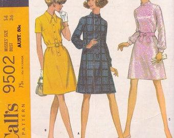 McCalls 9502 Misses Dress in Three Versions