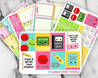 School/Student Planner Sticker Set | Erin Condren Planner Stickers
