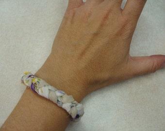handmade VINTAGE HANDKERCHIEF BRACELET repurposed jewelry