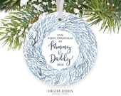 New Parents Ornament New Baby Ornament First Christmas as Mom & Dad Ornament First Christmas as Mommy and Daddy Ornament Mom Dad - Mitchell