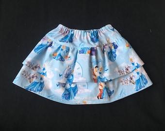 2T Cinderella Skirt, Ready to Ship, Size 2T, Disney, Cinderella Birthday