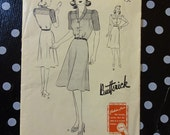 1940s Style Ombre Three Tone Dress with A Line Skirt Custom Made in Your Size From Vintage Pattern