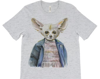 Eleven Fennec Fox - Stranger Things Shirt - Eleven Shirt - Animal Shirt - Geekdom Shirt - Funny T-Shirt - Pop Culture T-Shirt - Fennec Fox