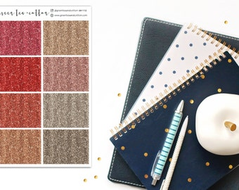 Glitter Headers // Reds and Golds // Planner Stickers // GH112
