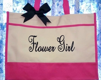 Tote Bag for Flower Girls Junior Bridesmaids Tote Bag Wedding Gift