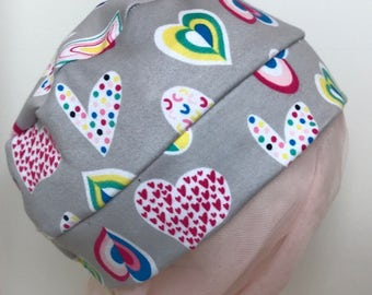 Child Colorful Hearts Hat