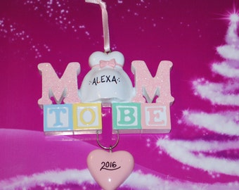 Personalized Mom To Be Christmas Ornament