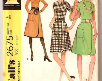 70s Dress Pattern McCalls 2675 Size 16 Uncut