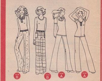 Flared Pants & Shirt Pattern McCalls 3284 Teen Size 11/12 Uncut