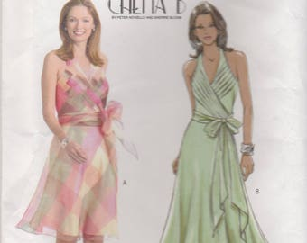 Awesome Halter Dress Pattern Butterick 4514 Sizes 6 - 12 Uncut