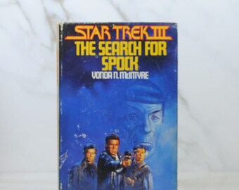 Vintage Star Trek III The Search For Spock 1984 Hardback Book, Mr Spock, Death, Genesis Device, Federation, Original Series, Genesis