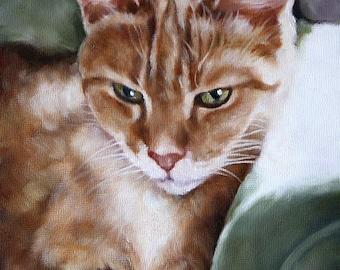 Custom Pet Portrait, Custom Cat Portrait, Animal Art, Custom Paintings, Oil Painting, 8x10