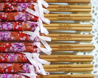 Personalised Engraved Chopsticks/ Party Gifts/Wedding Favours (min 20 pairs)
