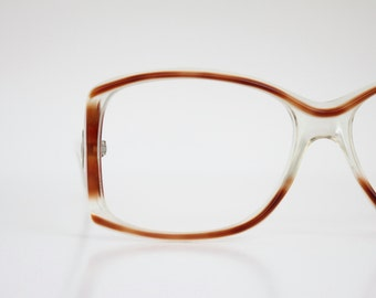 Vintage Oversized French Robert Claude Eyeglass Sunglasses Frames