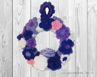 Door wreath, Spring Flowers,