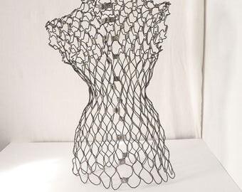 Antique Vintage Wire Mesh Dress Form
