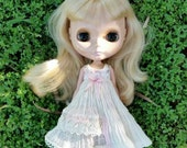 Cream Lace strap dress for blythe.
