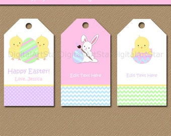Printable easter tag etsy easter tags easter gift tags easter bunny tags kids easter idea printable negle Gallery