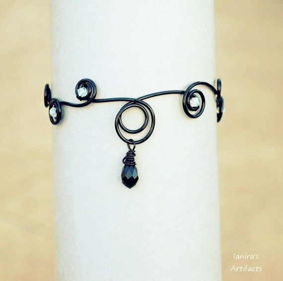 Black Wire Arm cuff ~ Gothic jewelry