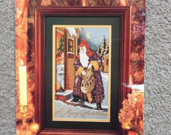 Santa's Visit Cross Stitch Pattern, Counted Cross Stitch Pattern Chrart by Cathy Livingston