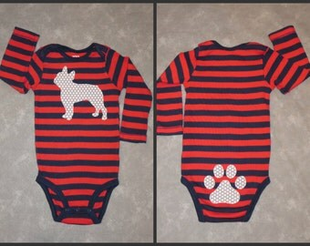 Pick your DOG!  Custom baby bodysuit with dog breed of your choice.  Short or long sleeves (see photo #2 for short sleeve)