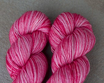 Hand Dyed Sock Yarn in Oh Sweetheart! colorway