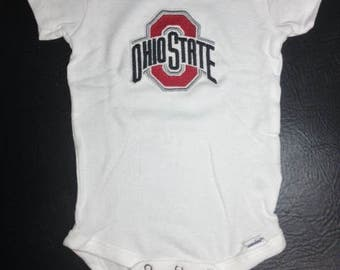 Ohio State, OSU, Ohio State Baby, OSU Baby, Embroidered Onesie, Personalized Shirt, Embroidered Shirt, Personalized Onesie, Buckeyes, Baby