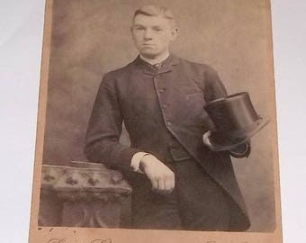 Cabinet Card, Young Dude with Tophat
