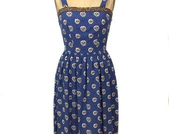vintage 1970s floral sundress / The Red Mill collection by Karol Lynne / summer dress / women's vintage dress / tag size 4