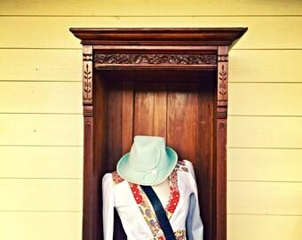Vintage Handmade colorful floral patchwork blouse