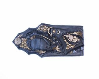 Leather Wallet, Man Wallet, Burning Man Festival, Avangarde Wallet