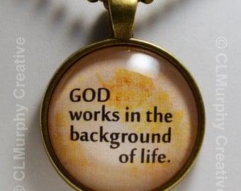 God Christian Blessings Custom Art Necklace Pendant Jewelry Christian Pendant Sobriety NA AA C L Murphy Creative