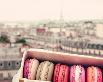 SALE Paris photography, canvas art, Paris wall art, large wall art, Paris canvas, Paris print, canvas wall art, french macaroons, macarons
