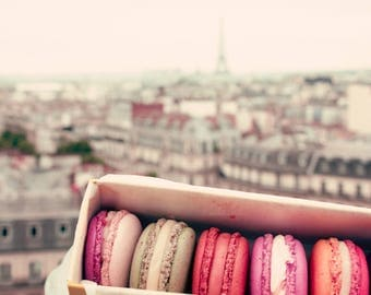 SALE, Paris photography, Paris wall art, canvas art, large wall art, Paris canvas, Paris print, canvas wall art, french macaroons, macarons