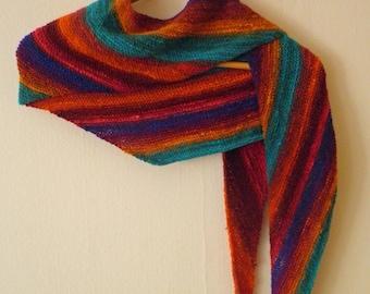 Asymmetrical colorful scarf