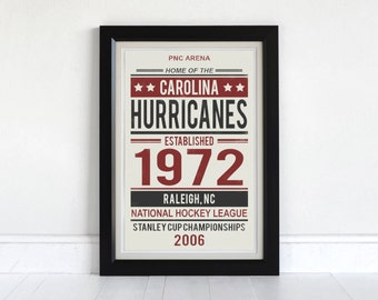 Carolina Hurricanes -Screen Printed Poster